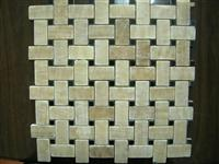 Mosaic Made of Onyx, Marble, Travertine, Limestone, Basalt, Glass, Stainless Steel, etc.