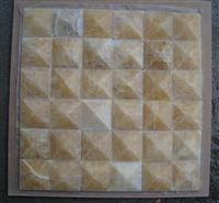 3D Pyramid Honey Onyx Mosaic