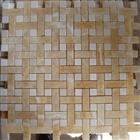 Honey Onyx Crystal White Basket Weave Mosaic