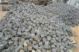black basalt andesite rock stones paving