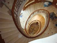 Beige Marble Steps Stone Spiral Staircase