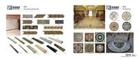 Stone Border Marble Moulding Water Jet Medallion
