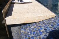 Beige Limestone Copings Swimming Pool Stone Copings Stone Steps