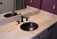 beige travertine vanity tops water proof