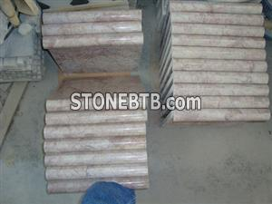 Red Marble mouldings Chinese Marble Red Cream