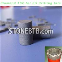 TSP inserts for petroleum drilling bits