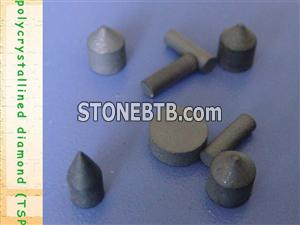 TSP inserts for oil drilling