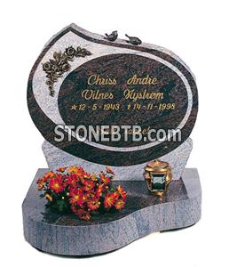 Red Granite Tombstone