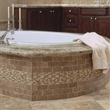 Mexican Noce Tumbled Travertine Bath Tub