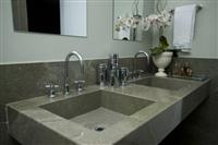 Wild Sea Granite Vanity Top, Sink