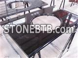 Mongolia Black granite vanity tops China Black absolute black
