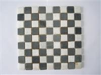 Crystal White Black Marble Mosaic