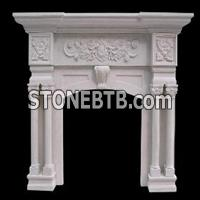 sell White sandstone fireplace