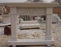 White Sandstone Fireplace