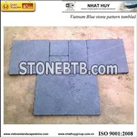 Blue stone pattern tumbled