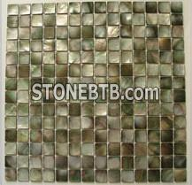 black mother of pearl shell mosaic