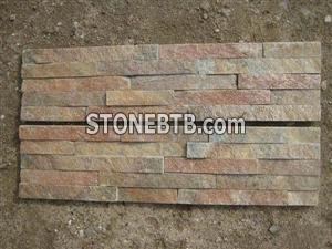Red and Yellow Multicolor Panel Stone