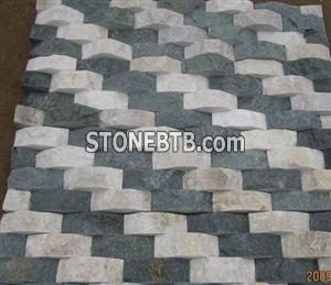 White and Black Wave Culture Stone