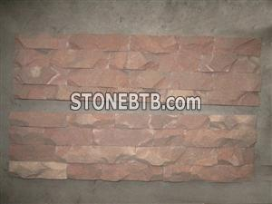 light red wave culture stone