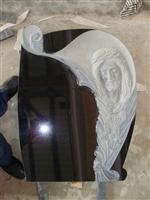 Black Carving Headstone