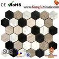 Blend Marble Mosaic Hexagon Tiles