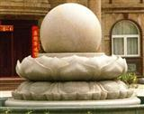 Floating sphere stone fountain