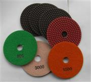 Wet polishing pad