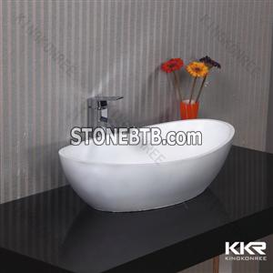 Zero water absorption solid surface sink