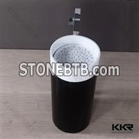KKR durability black solid surface kitchen sink