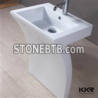 Scratch resistance solid surface bathroom basin