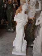White Marble Naked Woman Statue