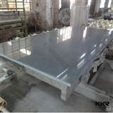 Pure White Cut to Size Quartz Stone Mirror Tiles for Flooring