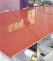 sparkle red artificial quartz stone