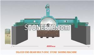 END-BEAM MULTI-DISC STONE SAWING MACHINE