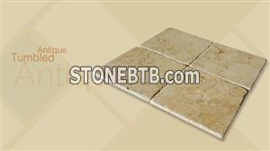 Antique Tumbled Beige Marble Tiles