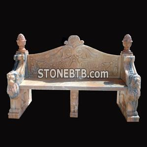 Red Marble Bench