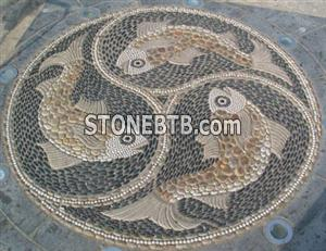 Pebble Stone Mosaic for Garden