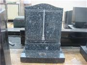 European granite book shaped tombstone