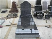 European style tombstone with cover slab