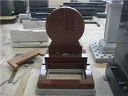 ruby red granite round shaped tombstone