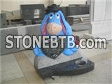 eeyore carving baby headstone