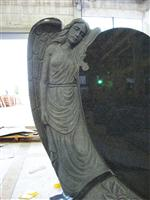angel heart tombstone with rose