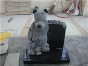 granite tiger book children headstone