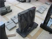 European granite book shaped headstone