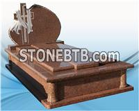 High Quality Granite Headstone Designcross Shaped Tombstone