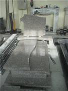 High quality granite tombstone with cross