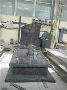 High quality granite tombstone with cross carving