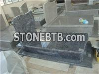 hina made granite monument with kerbs and cover slab