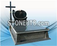 New style granite tombstone with cross for poland market