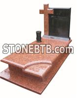 Poland new style granite monument with cover slab